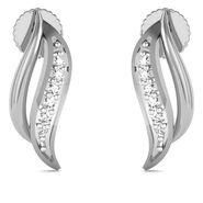 Avsar Real Gold and Swarovski Stone Patana Earrings_Bge060wb