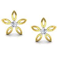 Avsar Real Gold and Swarovski Stone Jevika Earrings_Uqe017yb