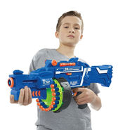 Kids Semi-Auto Barrel Rapid Fire Gun with 40 Soft Darts