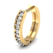 Avsar Real Gold & Swarovski Stone Vashi Nose Pin_Av08yb