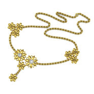 Avsar Real Gold & Swarovski Stone Kajal Necklace_Nl3yb