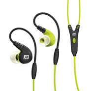 MEE M7P Secure-Fit Sports In-Ear Headphones with Mic, Remote, and Universal Volume(Green)
