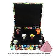12 Slot Leatherette Vintage Vogue Art Watch Organiser_ADWB0000133