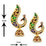 Spargz Enmel AD Stone Earring Jhumki_Aier101 - Multicolor