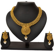 Pourni Pearl Jewellery Necklace Earring Set _Prnk01