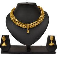 Pourni Antique Design Necklace Earring Jewellery Set_Prnk04
