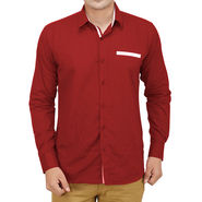 Branded Casual Shirt For Men_Mrnp019 - Maroon