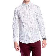 Brohood Slim Fit Full Sleeve Linen Cotton Shirt For Men_A5028 - Cream