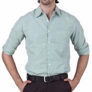 Mind The Gap Full Sleeves Shirt For Men_S7171 - White & Green