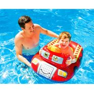 Intex 55380 Kiddie Inflatable Water Float Red Car Shape Swim Pool