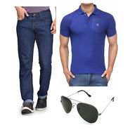Combo of Rico Sordi Jeans + 1 Polo Tshirt + 1 Sunglasses