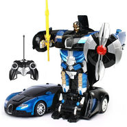 2 in1 Remote Control Robot cum Buggati Toy Car - Blue