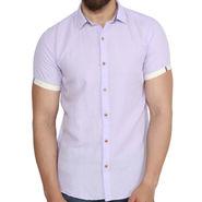 Branded Linen Casual Shirt_Zara05 - Purple