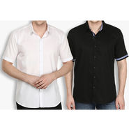 Pack of 2 Stylox Cotton Shirts_3034 - White & Black