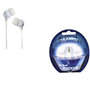 Maxell - Plugz In-ear Earphone for iPod/MP3 Players/Mobiles (White)