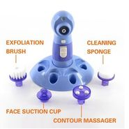 Kawachi Face Blackhead Cleaner with Rotary Skin Facial Brush & Scrubber Massager