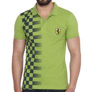 Branded Cotton Slim Fit Tshirt_Fg02 - Green
