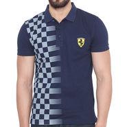 Branded Cotton Slim Fit Tshirt_Fn03 - Navy