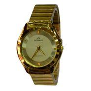 Branded Round Dial Analog Wrist Watch For Men_2305sm02 - Golden