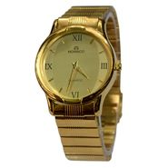 Branded Round Dial Analog Wrist Watch For Men_2305sm07 - Golden