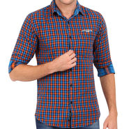 Crosscreek 100% Cotton Shirt For Men_1130302 - Blue
