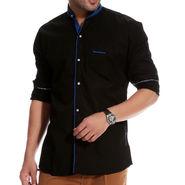 Brohood Cotton Shirt_Mfsd3003 - Black