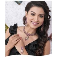 Kriaa Alloy Ethnic Necklace Set With Maang Tikka_2000316 - Multicolor