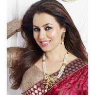 Kriaa Mithya Design Red & Green Meenakari Pearl Necklace Set_2000503