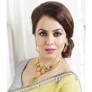 Kriaa Mithya Designer Austrian Stone Kundan Meenakari Necklace Set_2000505
