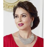 Kriaa Mithya Designer Rhodium Finish Austrian Diamond Stone Necklace Set_2000522