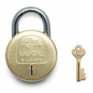 Godrej Navtal 8 Lever 2 Key (Brass)