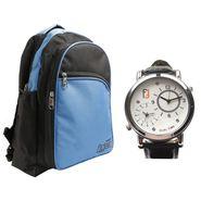 Fidato Combo of 1 Watch For Men + 1 Backpack_Fdwc28