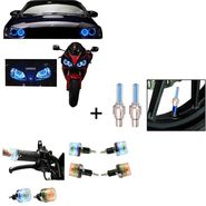 Combo of 2 Angel Eye + Wheel light with Motion Sensor + LED Light for Bike Handle Grip