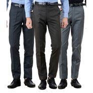 Pack of 3 American Elm Formal Trousers For Men_Tr49
