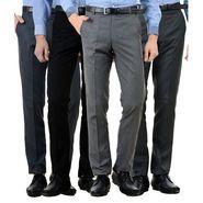 Pack of 4 American Elm Formal Trousers For Men_Tr60