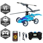 Mars Strike Remote Control 2in1 Helicopter & Car - Blue