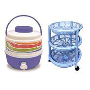 Princeware Water Cooler & Vegetable Trolley