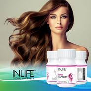 INLIFE Hair Support Supplement 60 Veg Capsules