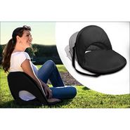 Kawachi Portable Reclining Yoga Chair With 6 Adjustable Positions And Shoulder Strap - Black