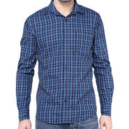 Crosscreek Full Sleeves Cotton Shirt For Men_1030317 - Navy Blue