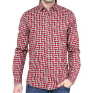 Crosscreek Full Sleeves Cotton Shirt For Men_1030319 - Red