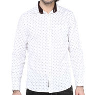 Crosscreek Full Sleeves Cotton Shirt For Men_1060310 - White