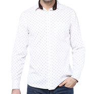 Crosscreek Full Sleeves Cotton Shirt For Men_1060312 - White