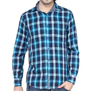 Crosscreek Full Sleeves Cotton Shirt For Men_1130305 - Aqua