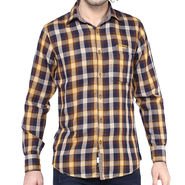 Crosscreek Full Sleeves Cotton Shirt For Men_1130306 - Brown