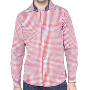 Crosscreek Full Sleeves Cotton Shirt For Men_1130307 - Red