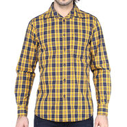 Crosscreek Full Sleeves Cotton Shirt For Men_1130310 - Yellow