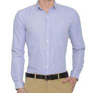 Being Fab Stripes Shirt For Men_Bfstrp101 - White & Blue
