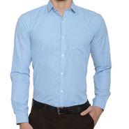 Being Fab Checks Shirt For Men_Bfwdc111 - White & Blue