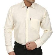 Fizzaro Regular Fit Cotton Shirt For Men_Fzs110 - Cream
